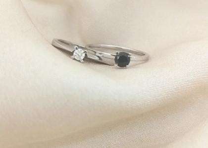 Black or white diamond